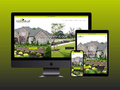 Greenleaf Construction & Property Services Group Inc ui vector illustration contact branding uxui uxdesign logo design uidesign