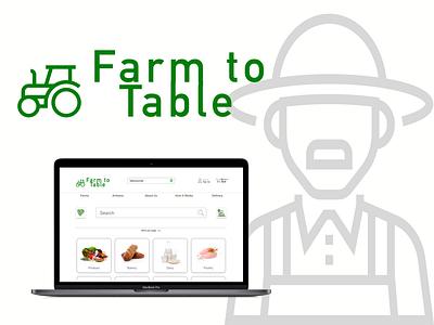 Farm to Table ui vector illustration contact branding uxui uxdesign logo design uidesign