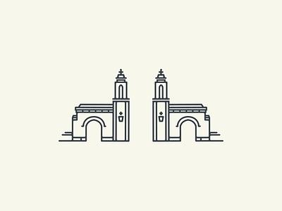 Sample Gates iubloomington landmark illustration architecture bloomington gates