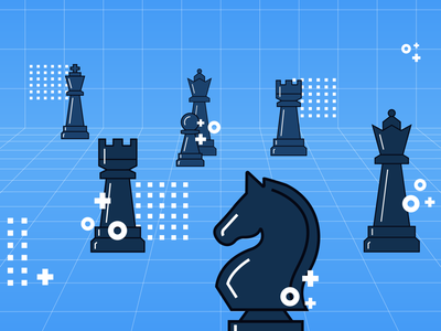Game On website blog post blog chess piece photoshop strategy games chess branding illistrator illustration blue graphic design