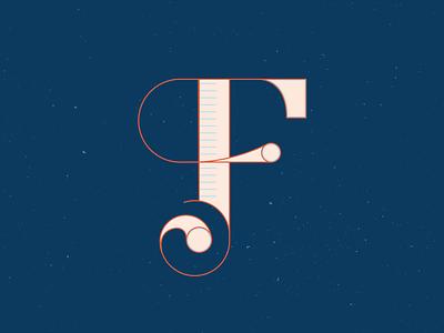 36 Days of Type - F series contrast orange hand lettered hand drawn letter handlettering lettering 36 days of type 36daysoftype illustrator vector blue illustration graphic design