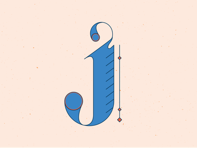 36 Days of Type J typogaphy typeface type 36daysoftype10 letters orang series hand drawn handlettering 36 days of type 36daysoftype lettering vector illustrator blue illustration graphic design