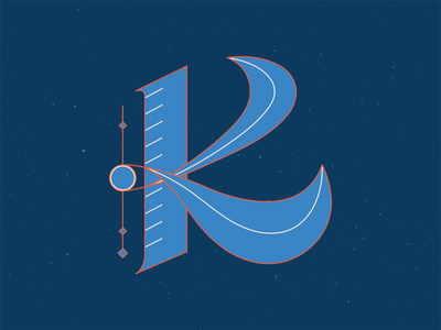 36 Days of Type K 36daysoftype11 letter letters graphic design orange series handlettering 36 days of type 36daysoftype lettering vector illustrator blue illustration graphic design