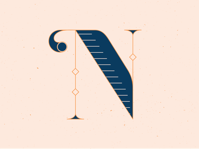 36 Days of Type N letter letters lettern 36daysoftype14 series hand draw handlettering 36 days of type 36daysoftype lettering vector illustrator blue illustration graphic design