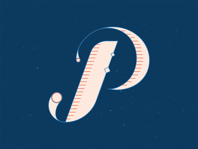 36 Days of Type P graphic design series type design 36daysoftype16 typogaphy typface type handlettering 36 days of type 36daysoftype lettering vector illustrator blue illustration graphic design