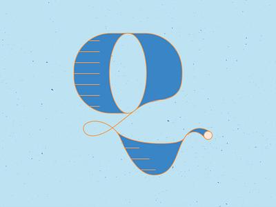 36 Days of Type Q hand drawn series 36daysoftype17 type typeface handletter letters lettering 36 days of type 36daysoftype vector illustrator blue illustration graphic design