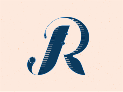 36 Days of Type R 36daysoftype18 letters typedesign typeface typography type handlettering lettering 36 days of type 36daysoftype vector illustrator blue illustration graphic design
