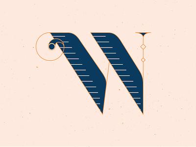36 Days of Type W series typeface typography letters type handlettering 36 days of type 36daysoftype vector illustrator blue illustration graphic design