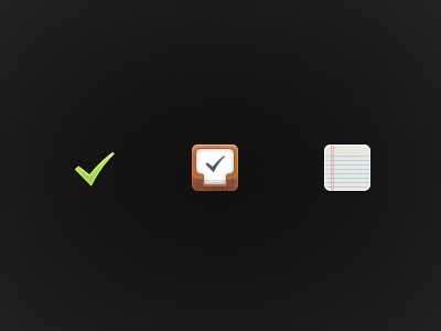 [WIP] Navigation Icons ios sidebar navigation tasks projects notes productivity work feed check tick paper