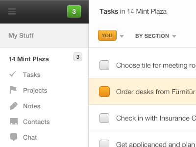Orange + Green = Like? productivity check workspace group chat projects crm tasks