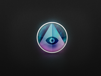 The app-watching eye. desktop os x app icon mac hidden hide sleep night eyeball eye glass pyramid circle