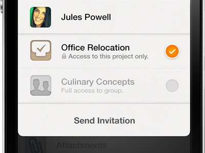 You're invited again. email ios productivity follower person assignee share task security temporary guest invitation