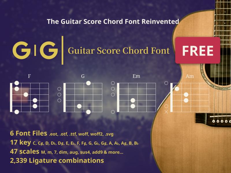 GIGI Guitar Score Chord Font Free chord guitar font freebies freebie free