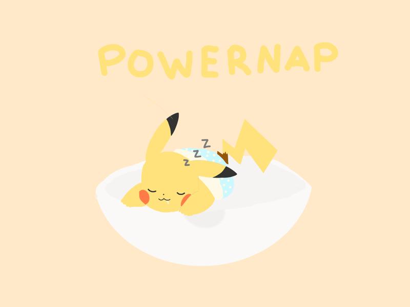 powernap yellow pastel powernap nap pokeball pikachu pokemon
