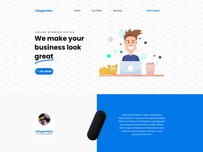 Home Page cta navbar hero website design web design website webdesign