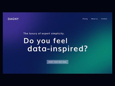 Dagny: Hero exploration website design web design webdesign website fintech cta gradient landing hero landing page branding web main
