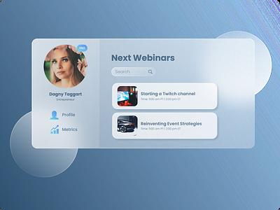 Dashboard website design web design webdesign website dashboard design dashboard ui dashboad glassmorphism glass gradient profile page profile