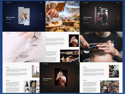 Portfolio hairdresser chef photographer photography portfolio design website design website web design webdesign