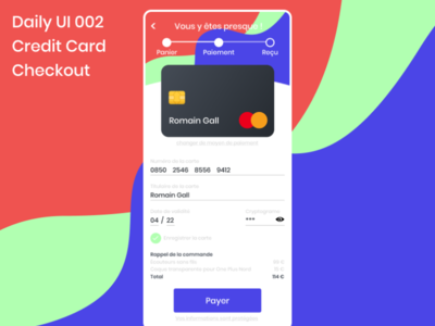 Daily UI 002 - Credit Card Checkout daily uidesign mobile daily ui web dailyui 002 design dailyui
