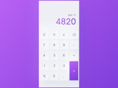 Daily 004 - Calculator minimal uidesign mobile ui daily ui daily web design dailyui