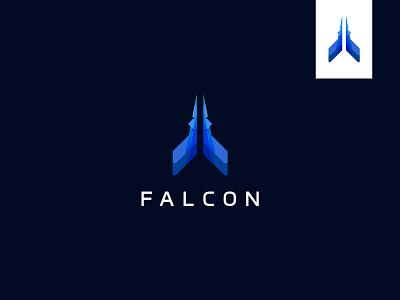 FALCON game gaming logo best logo designer modern logo fighter plane logo plane logo air craft logo symbol falcon modern logomark mark abstract falcon logo