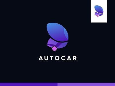 AUTOCAR - modern car logo design minimal gradient car shop logo car brand logo car logo logo design logo modern car car