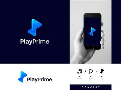 PlayPrime logo concept | Moden logo design | play logo