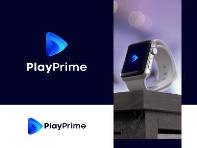 PlayPrime | Music logo | Modern logo design | music logo logo designer design best logo designer brand identity branding concept logo design logo graident logo