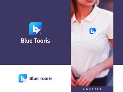 Modern lettermark logo | Blue Tooris icon letter mark
