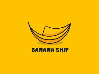 Banana Ship business logo shop logo ship logo banana mascot vector best logo designer brand identity concept branding logo design logo