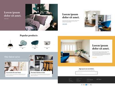 Furniture Homepage Design