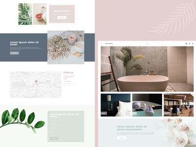Spa Homepage Design
