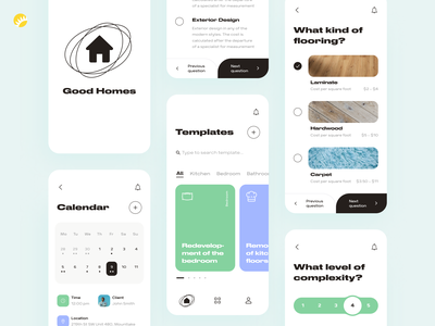 Interior designers selection app options comfort place design concept schedule redesign convenient selection search cooperate designer interior home ui design design ux design ui mobile design mobile app mobile