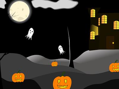 Halloween vector illustration vectorillustration vectordesign halloweenillustration halloweenpumpkin ghost spooky dribbleweeklywarmup halloween vector illustration design