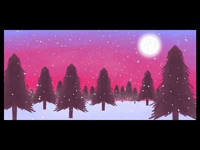 Digital Illustration illustration design art  snow