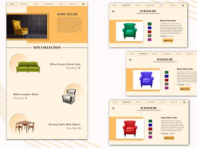 Home Decor UI website design website uidesign ui xd adobexd