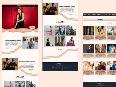 Fashion Brand UI Design webdesign fashion ux ui uidesign figma