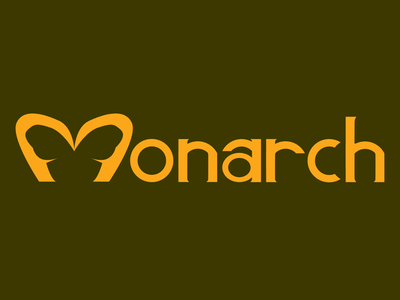 Monarch Logo - Logo using negative space design vector dribbble shot dribbble weeklywarmup illustration logo