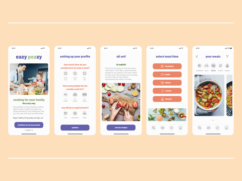 Recipe App - Concept website webdesign web design user interface userinterface ui branding sketch xd illustrator recipe app app design app dailyuichallenge dailyui