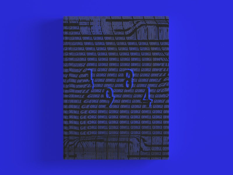 Orwells' 1984 book cover design