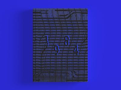 Orwells' 1984 book cover design saturation saturated book mockup dystopic dystopian futuristic retro futurism futurism retro design vintage design book design book cover 1984 george orwell george orwell 1984