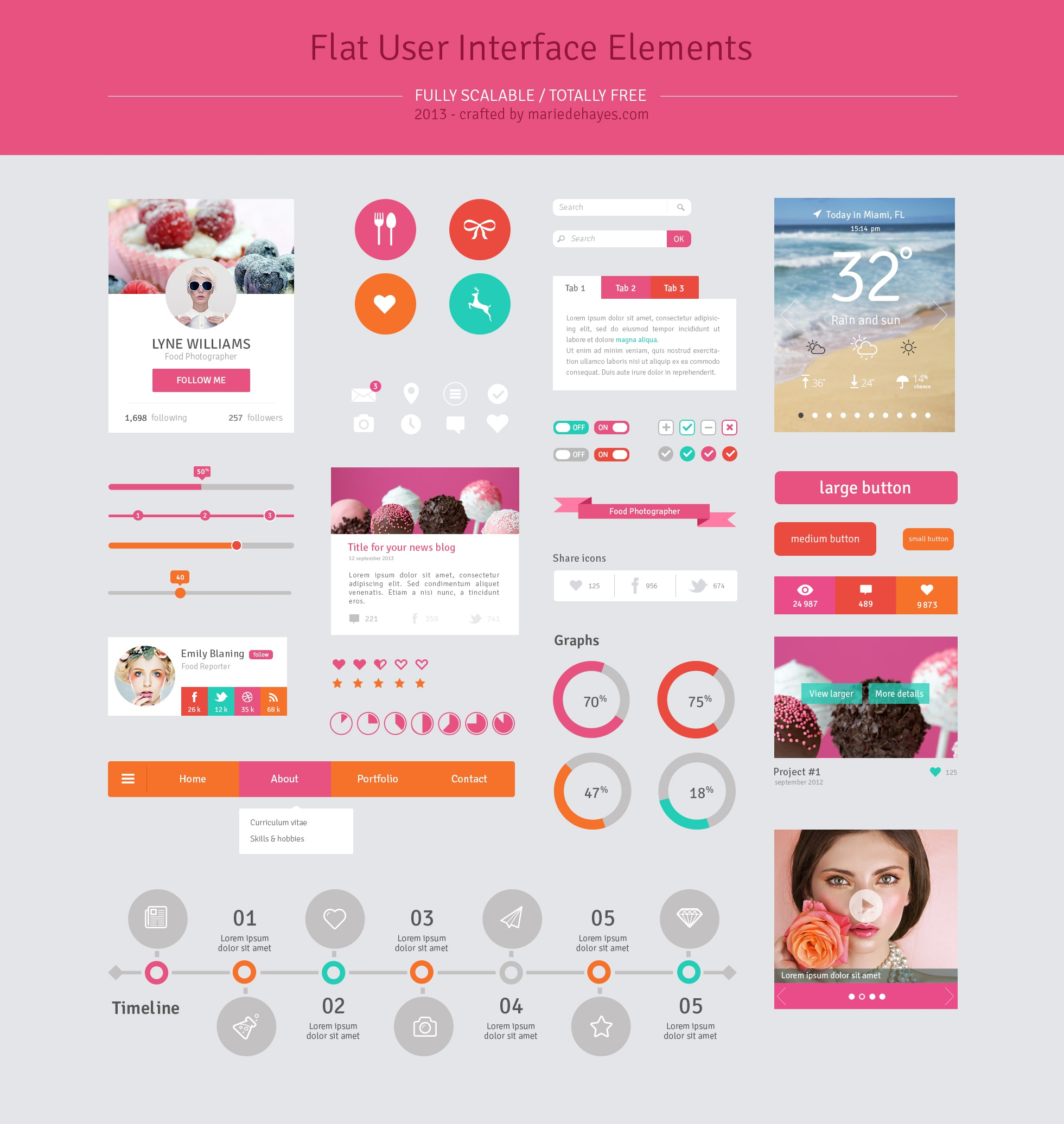 Ui flat design elements rp