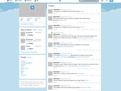 Freebie : Twitter GUI PSD (New home template) freebie flat design twitter gui psd ressources