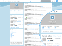 Freebie : Twitter GUI PSD (New home template)