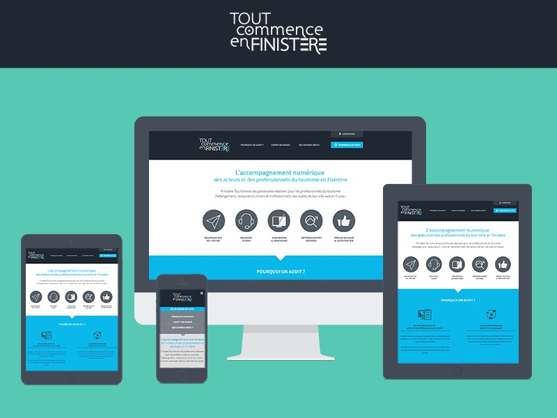 Responsive one page website responsive flat design