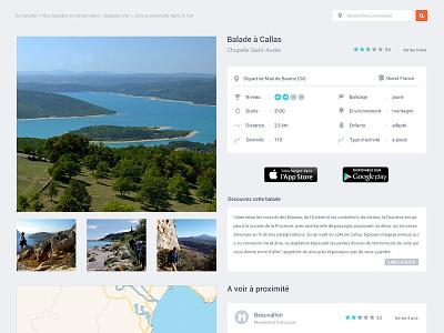 Single page flat design map clean app ui ux design comments roboto