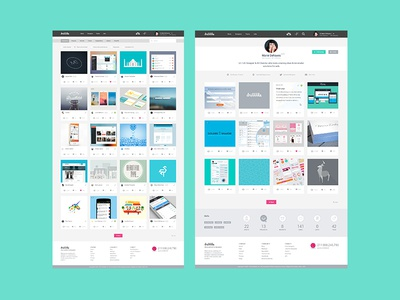 Dribbble Redesign - Home + Profil dribbble redesign flat design ui clean