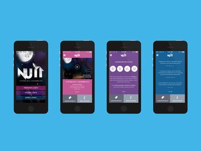 Nuit - Museum WIP flat design clean minimalist iphone