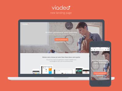 Viadeo new landing page