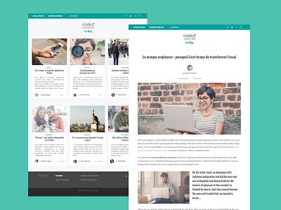 Viadeo Blog Recruteur minimalist clean responsive blog viadeo
